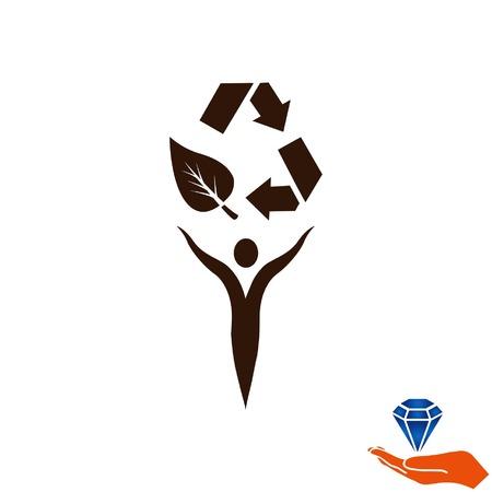 Wurf Müll, Recycling, Verschmutzung, Recycling und Öko-Symbol. Konzept der Ökologie Problem. Flache Vektor-Illustration. Illustration