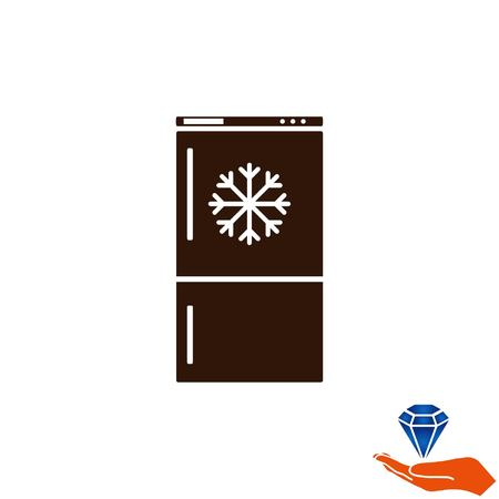 kitchen furniture: Home appliances icon. Refrigerator icon. Vector illustration. Kitchenware. Illustration