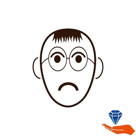 Icono enojado poco chico.