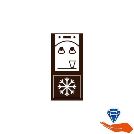 black appliances: Water Cooler icon, vector illustration. Illustration