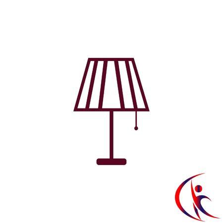 black appliances: Home appliances icon. Table lamp, floor lamp, chandelier icon. Vector illustration. Illustration