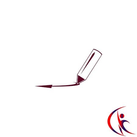 Pencil icon, vector illustration Vectores
