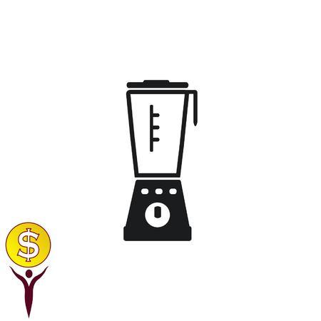 black appliances: Home appliances icon. blender icon,  Flat Icon of mixer.  Vector illustration. Kitchenware.