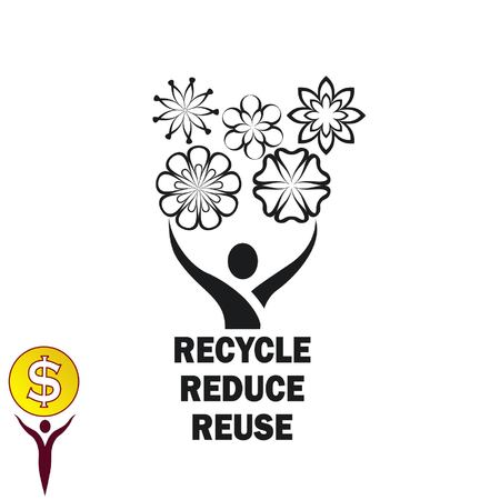 Throwing trash , recycle, pollution, recycling and eco icon. Concept of ecology problem.