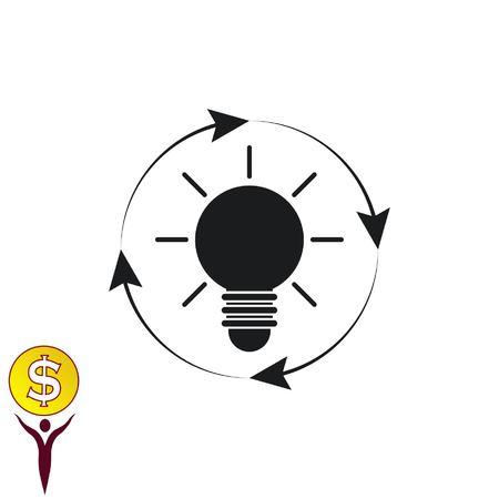idea generation Icon, vector illustration. Flat design style.