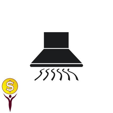 range hood: Home appliances icon. Kitchen hood icon. Illustration