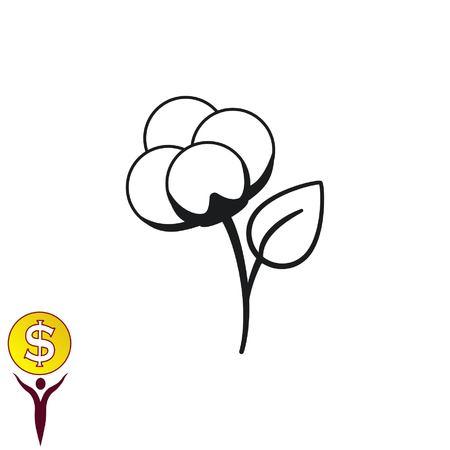 Cotton icon, vector illustration.