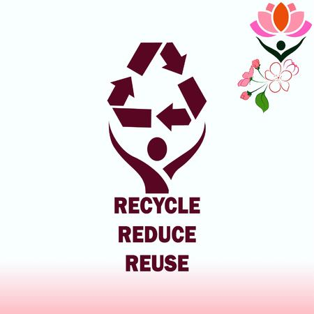 Throwing trash , recycle, pollution, recycling and eco icon. Concept of ecology problem. Flat Vector illustration. Çizim