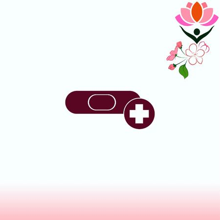 wound care: Bandage plaster vector icon. Illustration