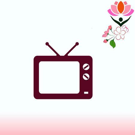 flat screen tv: Home appliances icon. TV icon. Vector illustration.
