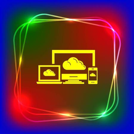 computer api interface icon, vector illustration. Flat design style. Illustration