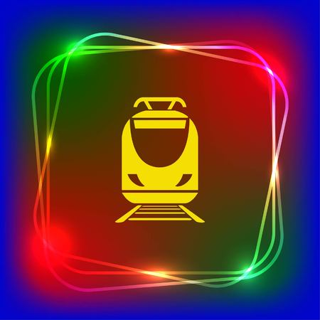 Personenzug, U-Bahn, U-Bahn, öffentliche Verkehrsmittel Symbol, Vektor-Illustration. Flache Design-Stil Standard-Bild - 76269924