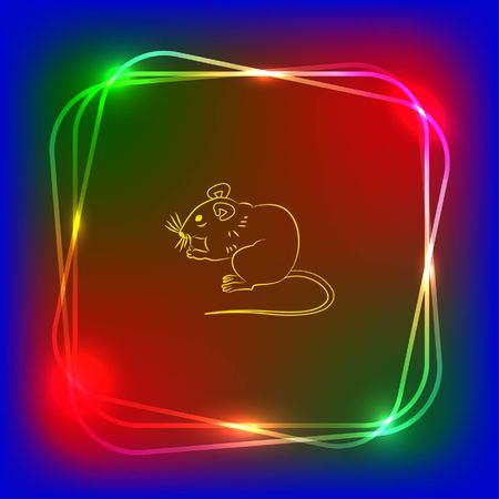 pest control: Mouse, rat, rodent pest icon.