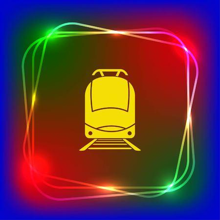 Personenzug, U-Bahn, U-Bahn, öffentliche Verkehrsmittel Symbol, Vektor-Illustration. Flache Design-Stil Standard-Bild - 76271062
