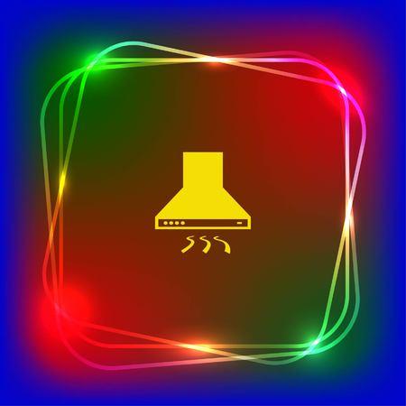 Home appliances icon. Kitchen hood icon. Vector illustration. Illustration
