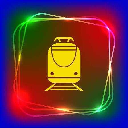Personenzug, U-Bahn, U-Bahn, öffentliche Verkehrsmittel Symbol, Vektor-Illustration. Flache Design-Stil Standard-Bild - 76271336