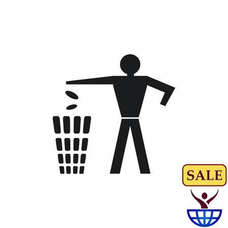 Throw away the trash icon, recycle icon Stok Fotoğraf - 77266706