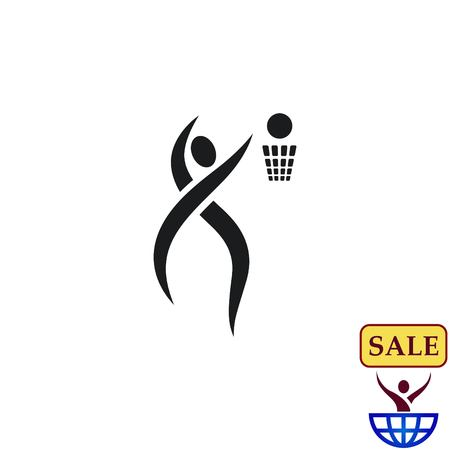 Sport icon , basketball. vector illustration. Flat design style