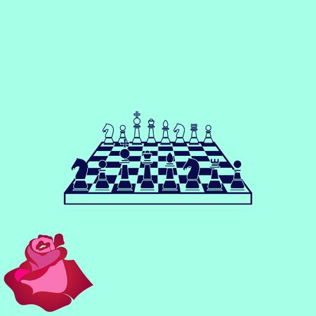 pawns: Icon chess pieces, vector illustration.