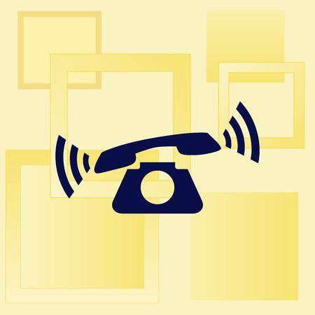 answer: The handset, phone icon , vector illustration. Illustration