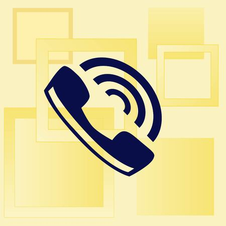 vintage telephone: The handset, phone icon , vector illustration. Illustration