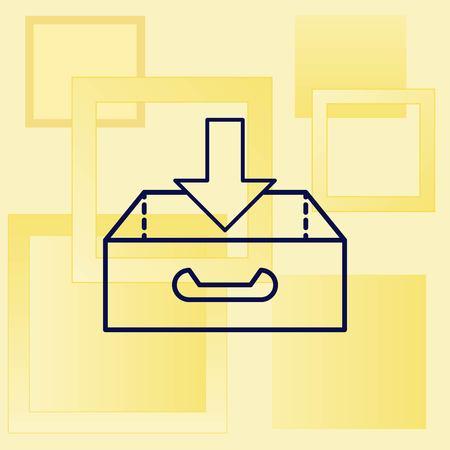 Oroject inbox Icon, vector illustration. Flat design style.