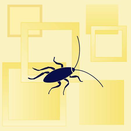 pest control: Cockroach icon, pest icon, vector illustration. Illustration