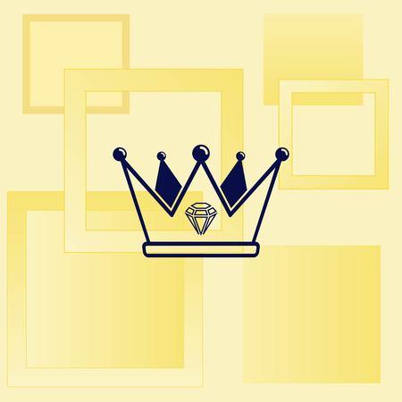 royal: Crown icon. Finance Icon, vector illustration. Flat design style. Illustration