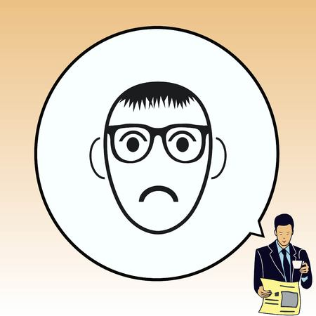 Angry little boy Icon.