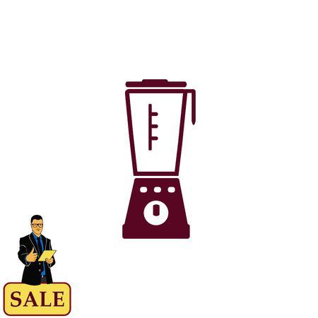 microondas: Home appliances icon. blender icon,  Flat Icon of mixer.  Vector illustration. Kitchenware.