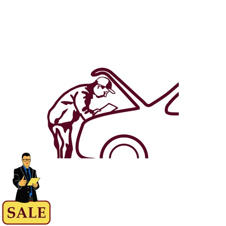 torch: Automotive repair, Car Mechanic Vector Icon. Illustration
