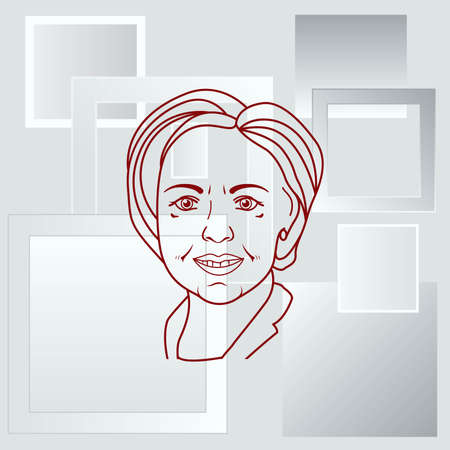 presidential: Usa presidential election Hillary Clinton, vector illustration , Editorial use only
