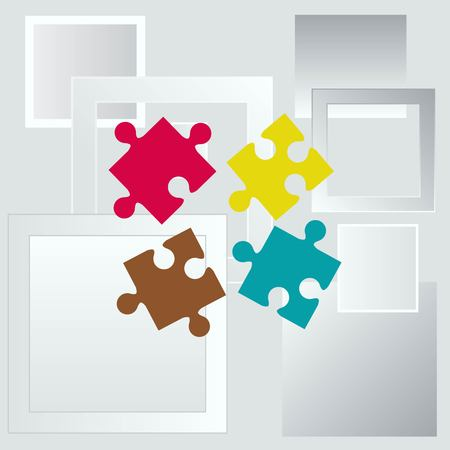expertise: Puzzle, vector illustration.