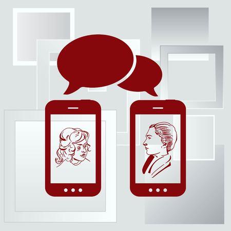 Het handtoestel, telefoonpictogram, vectorillustratie. Vector Illustratie