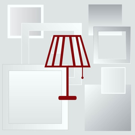 living room design: Home appliances icon. Table lamp, floor lamp, chandelier icon. Vector illustration. Illustration