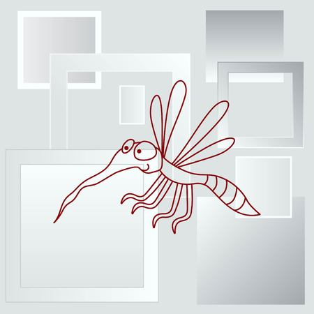 controlling: Mosquito icon. Leech icon. Wasp icon. Fly icon, vector illustration.
