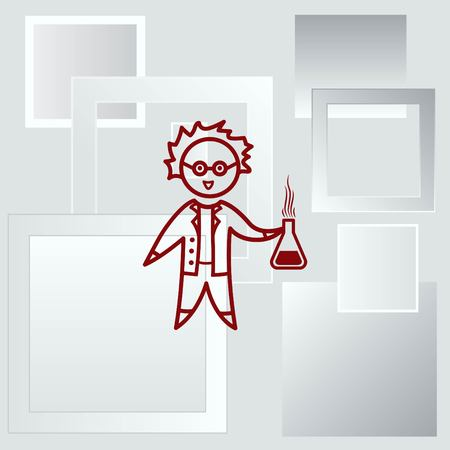 Professor, scientist, laboratory assistant, chemist, physicist, teacher icon.
