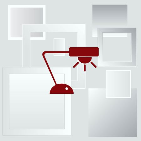 antique furniture: Home appliances icon. Table lamp, floor lamp, chandelier icon. Vector illustration. Illustration