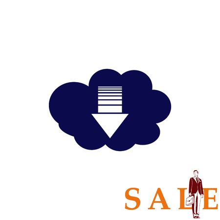 global communication: Technology innovation icon. Cloud technology, vector illustration.