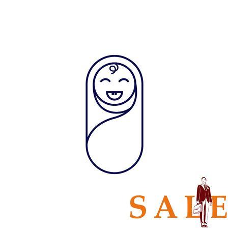 baby icon, Child icon, vector illustration. Flat design style Vektoros illusztráció