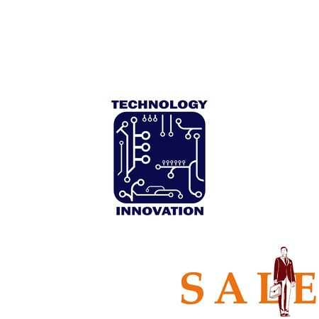 global communication: Technology innovation icon. Circuit board, microchip icon. Vector illustration.