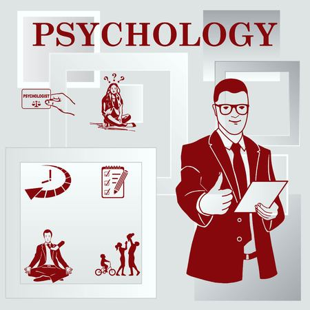 Psychology icon set, Psychologist icon,  vector illustration.