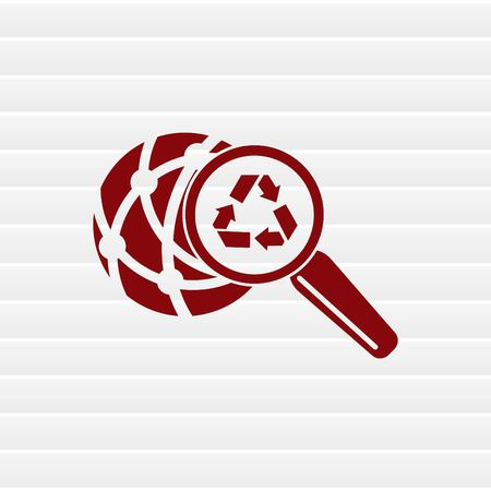 Place trash icon, recycle icon. Flat Vector illustration