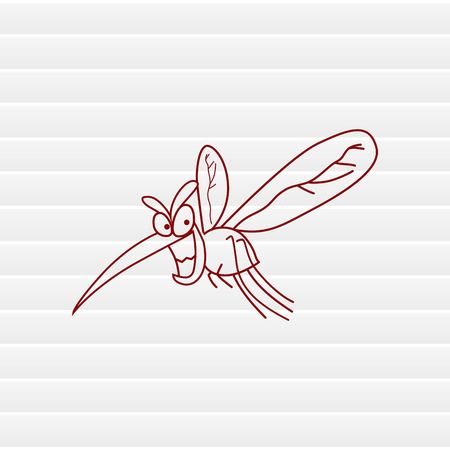 parasite: Mosquito icon. Leech icon. Wasp icon. Fly icon, vector illustration.