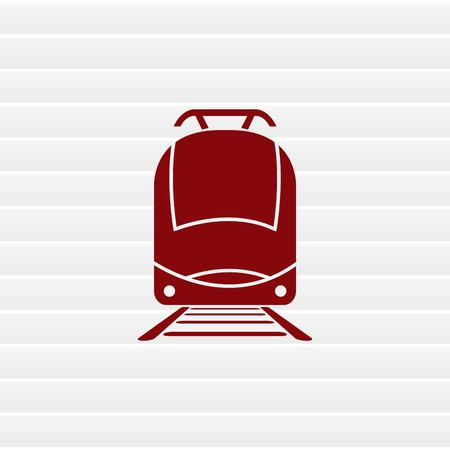 Tren de pasajeros, metro, metro, icono transporte público, ilustración vectorial. estilo de diseño plano