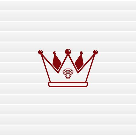 Crown icon. Finance Icon, vector illustration. Flat design style. Illustration