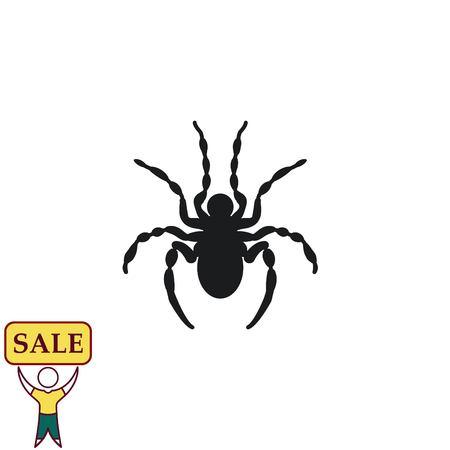 malaria: Spider icon. Wasp icon. Fly icon, vector illustration. Illustration