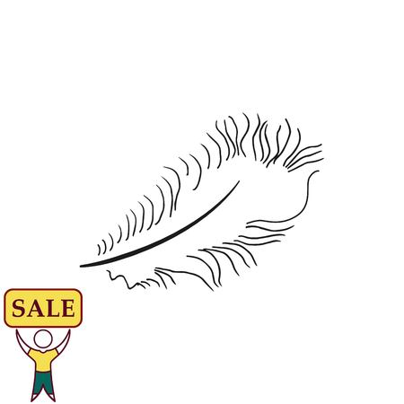 Pen icon, swan feathers icon, vector illustration.
