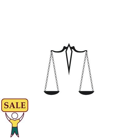 justice scale: Scales icon, vector illustration