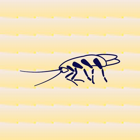 hazard: Cockroach icon, pest icon, vector illustration. Illustration